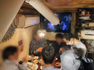 テーブルホッピングマジック 配達員の方の忘年会にマジシャンデリバリー 東京都渋谷区道玄坂