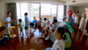 カップアンドボール 6歳の男の子のバースデーパーティーに出張マジシャンマジックショー 港区東京都