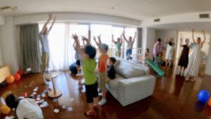 全員参加マジック 6歳の男の子のバースデーパーティーに出張マジシャンマジックショー 港区東京都